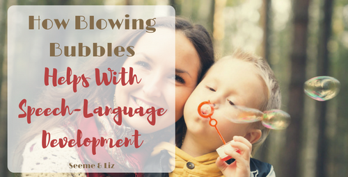 Blowing Bubbles For Toddler Speech Development