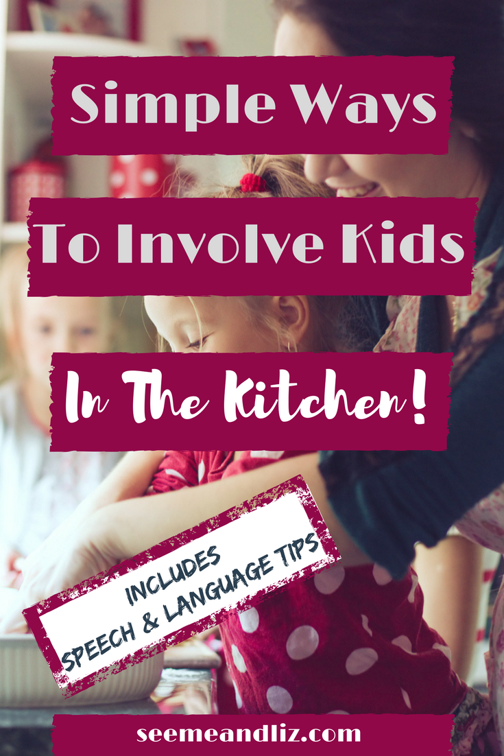 Fun Kids Kitchen Activities For Kids! Great for overall learning and speech-language development. Getting kids involved in the kitchen teaches important life skills!