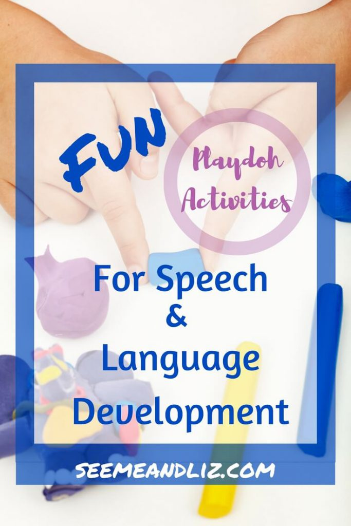 These playdough activities for toddlers & preschoolers are great for learning and speech-language development #playdough #speechtherapy #learningthroughplay