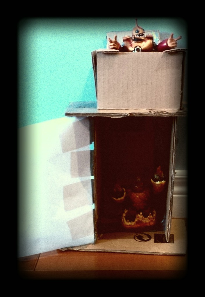 Creative ideas for kids using cardboard - skylanders teleporter