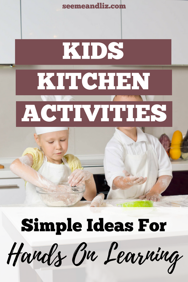 Kids baking with text overlay