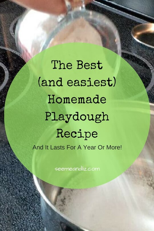 the best homemade playdough recipe that will last for months