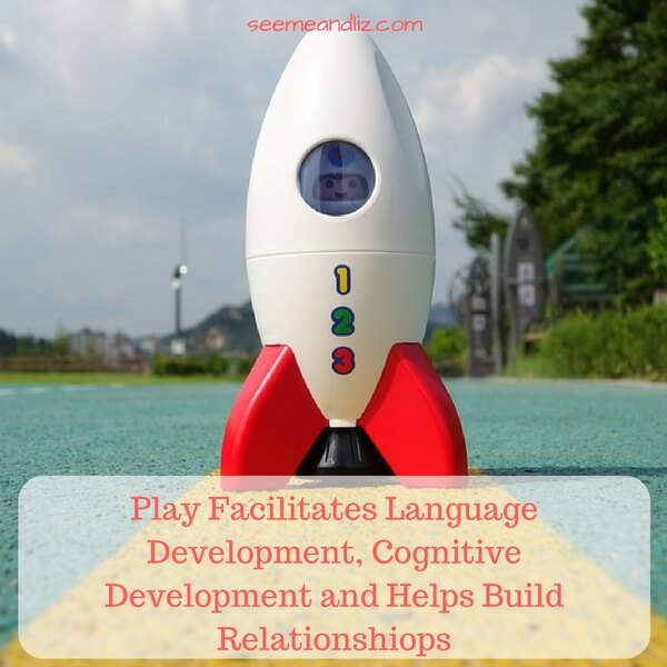 top 3 benefits of learning through play include language and cognitive development and relationship building
