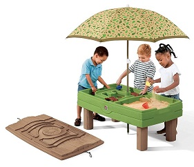 best outdoor playsets for kids Step 2 Naturally Playful Sand water table