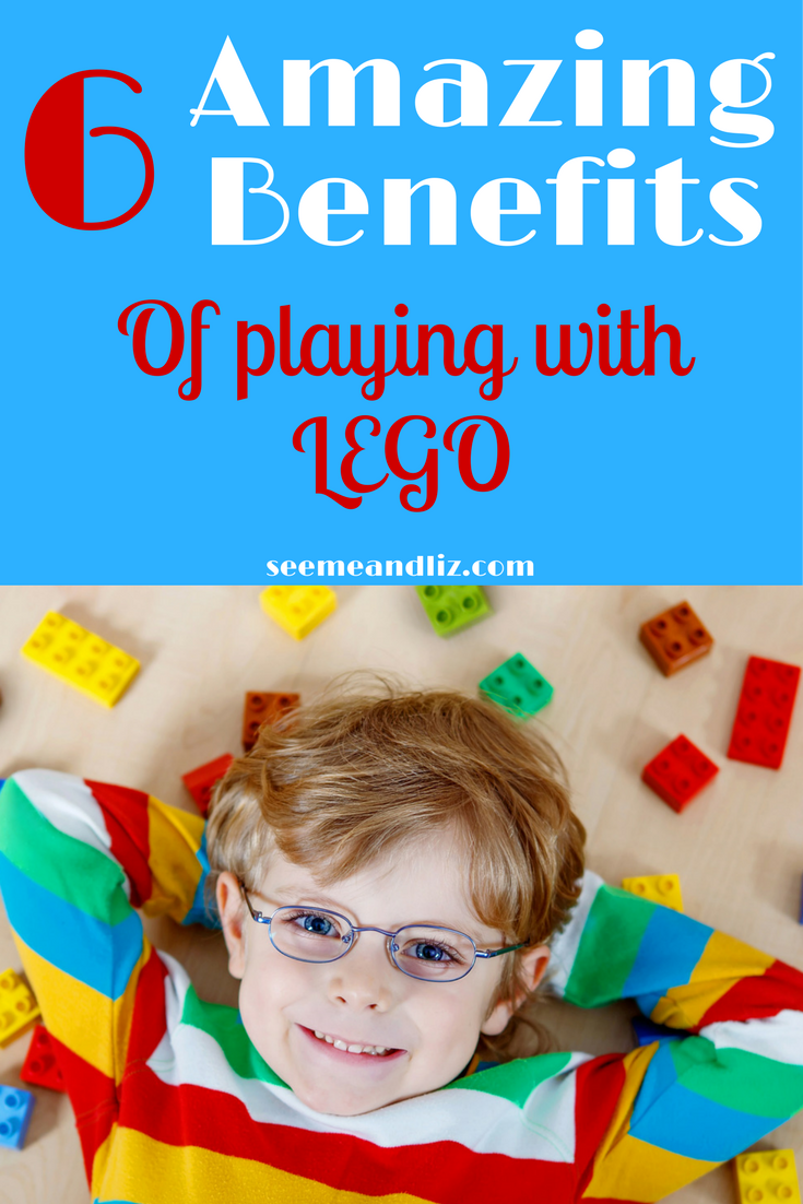 The benefits of #LEGO activities and games for kids are endless. Click to read 6 important skills your child will learn while playing with LEGO! #kidstoys #learningthroughplay