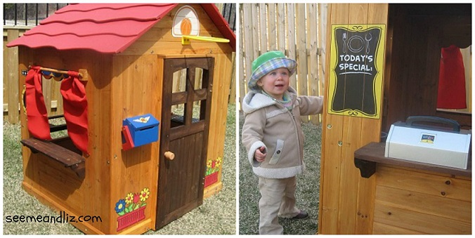 Little known facts about outdoor play equiptment for toddlers - a wooden playhouse for toddlers helps with language development