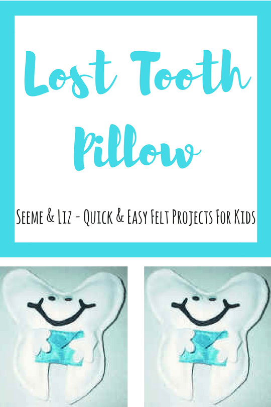 6 Easy Felt Projects for Kids Lost Tooth Pillow