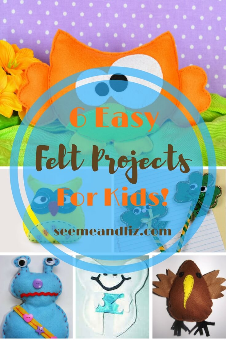 6 Easy Felt Projects For Kids! Plus tips for using felt activities to preschool and toddler speech-language development