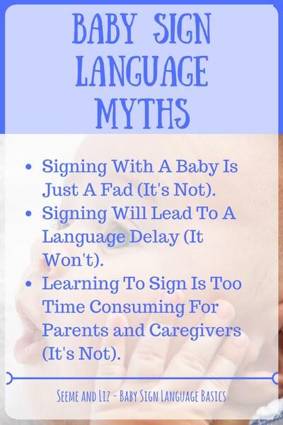 Baby Sign Language Basics - common myths