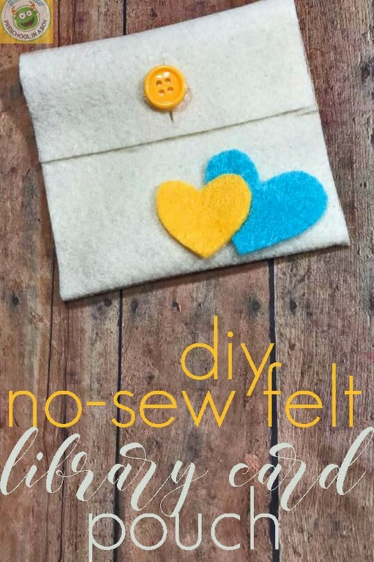 6 Easy felt projects for kids - new sew pouch. Plus learn all about playtime felts for speech-language tips and activities