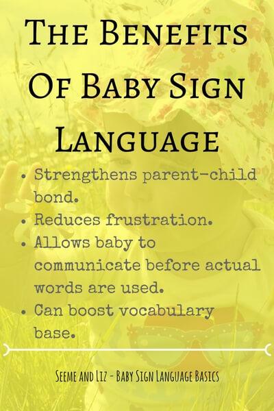 Baby Sign Language Basics - The Benefits of Baby Sign Language
