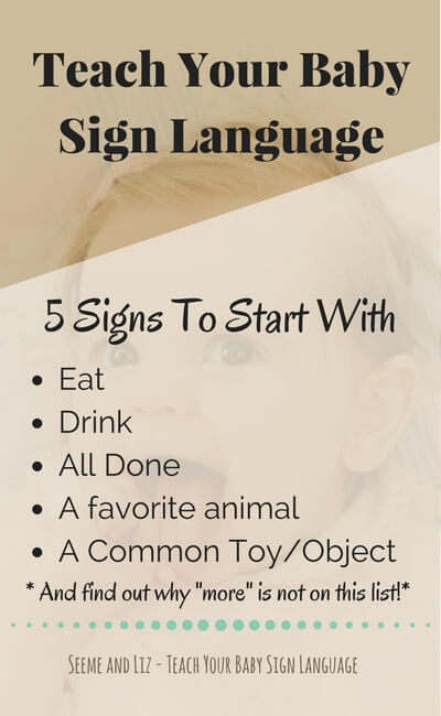 Teach Your Baby Sign Language - 5 signs to start with