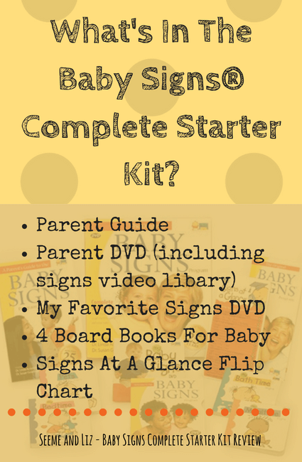 What's In The Baby Signs Complete Starter Kit - A review