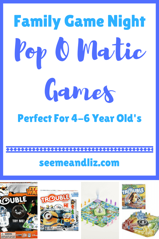 Family Game Night Games pop o matic games are perfect for 4-6 year old kids.