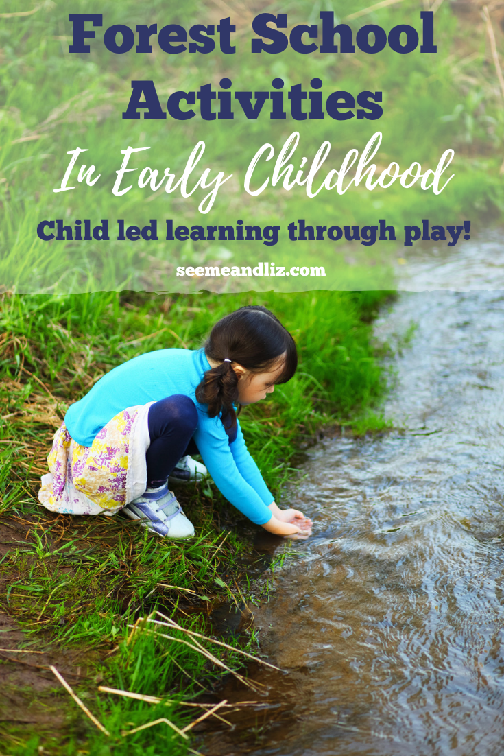 girl playing in stream with text overlay