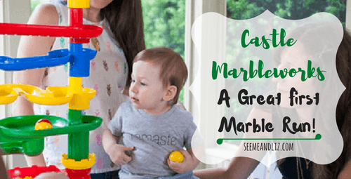 Castle Marbleworks by Discovery Toys is a great first marble run for toddlers