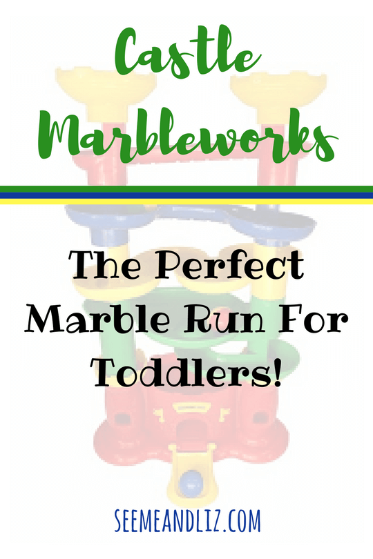 Marble runs are a great activity for skill building. Castle Marbleworks is the perfect toddler marble run