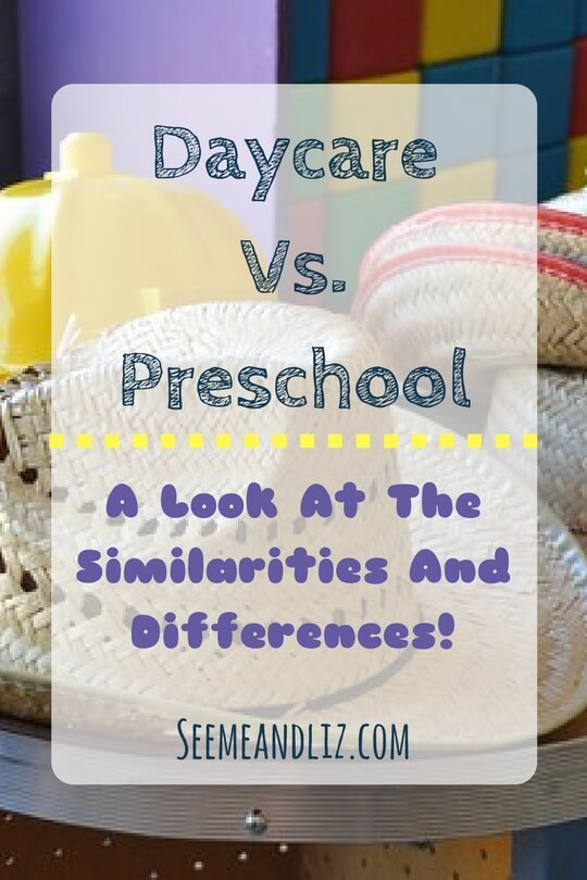 Daycare vs preschool - comparing similarities and differences