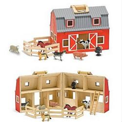 Melissa and Doug Fold and Go Wooden Barn