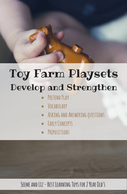Toy Farm Playsets are one of the best toys for 2 year old's for language development and learning