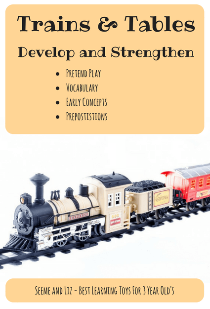 The benefits of trains & train tables are endless. This is what makes them a great educational toy for preschoolers