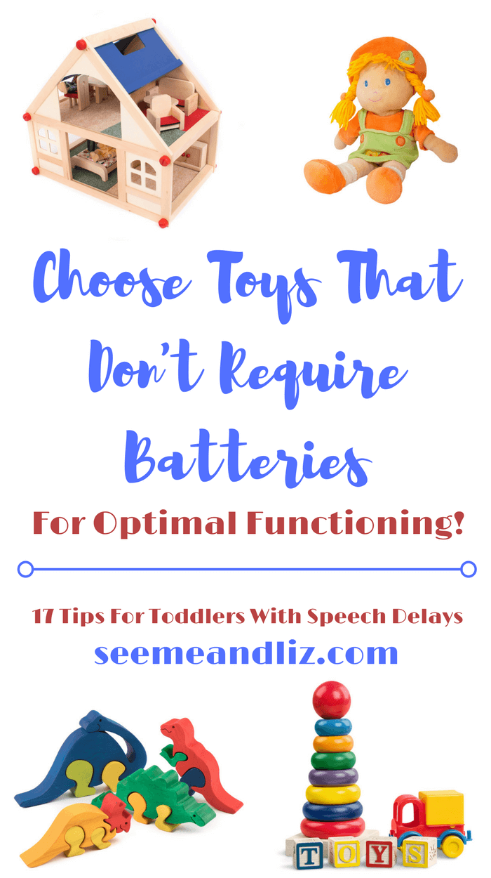 Tips & ideas for parents of toddlers whose speech is delayed. You can do these easily at home.