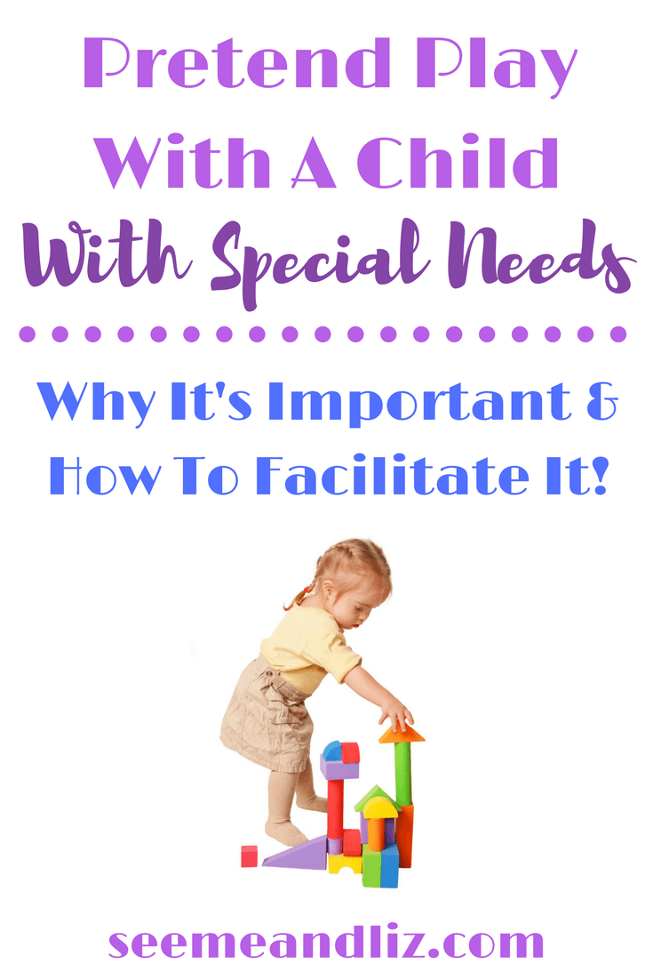 Did you know pretend play is extremely important for the child with special needs? Here are some ways to facilitate pretend play for children with developmental delays