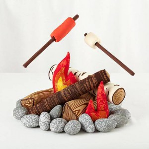 Indoor Camping Ideas for kids - The smore the merrier plush set land of nod