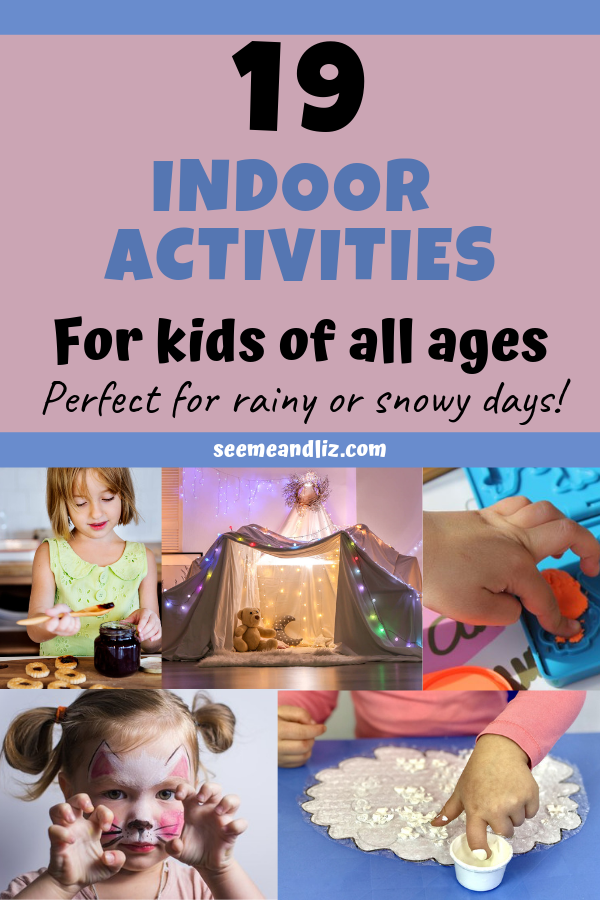 various kids activities with text overlay