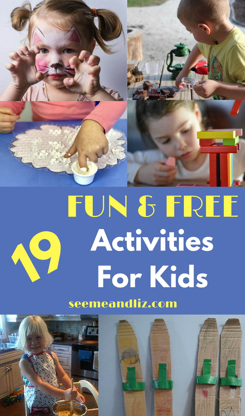 collage of kids activities with text overlay