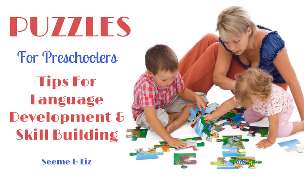 Preschool Learning Puzzles for language development