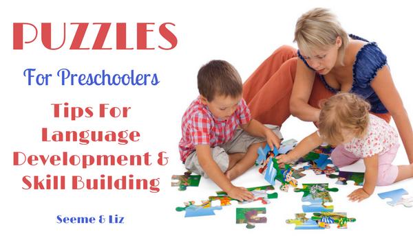 Preschool Learning Puzzles for language development