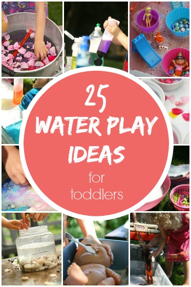 Water play activities and ideas for todders and preschoolers