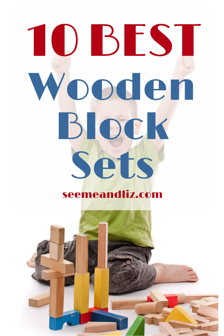 Unique wooden block sets for kids. Click to see the 10 best ones! #woodentoys #kidstoys #giftsforkids
