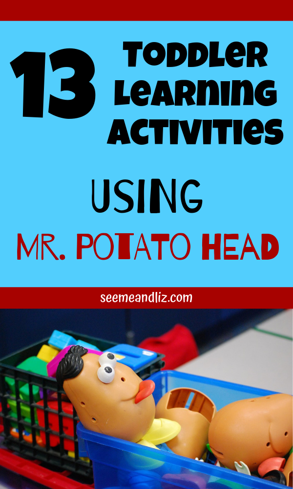 Mr potato head toy with text overlay