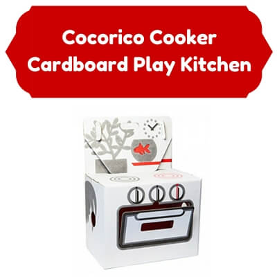 Cardboard Kids Kitchens Cocorico Cooker