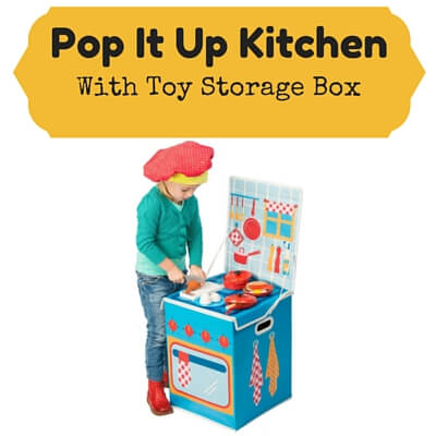 Cardboard Kids Kitchens Pop-It-Up Kitchen with Toy Storage Box