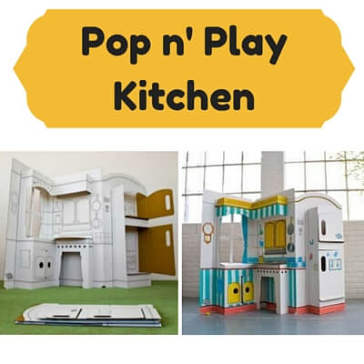 Cardboard Kids Kitchens Pop n Play Kitchen