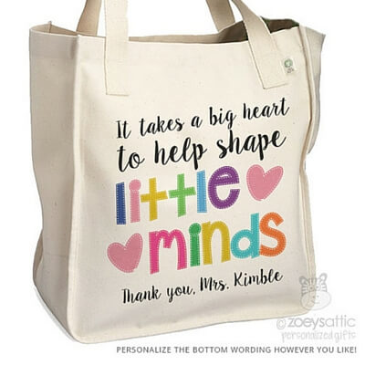 Cool Gifts Teachers Love Personalized Tote Bag