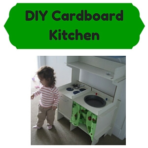 DIY Cardboard Kids Kitchens
