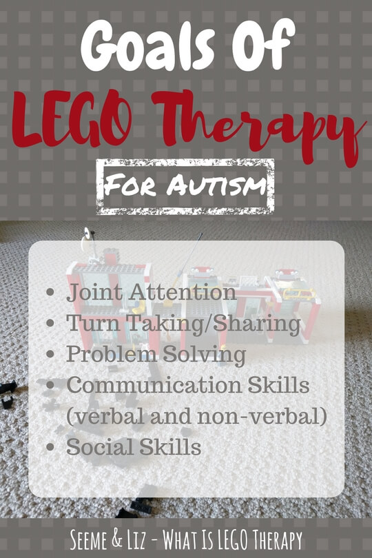 Goals of LEGO therapy for autism #LEGO #Autistic #ASD #Therapy #socialskills