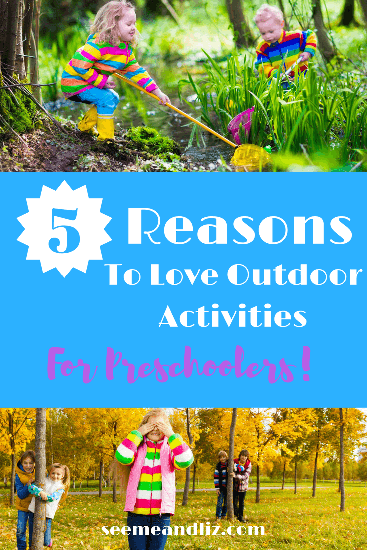 Outdoor activities for preschoolers are not only fun but they are necessary for your child's optimal development. Find out why playing outside is so important plus some super simple activities your child can partake in while outdoors
