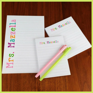 Personalized Teacher Notepad End of the year gift for male teachers
