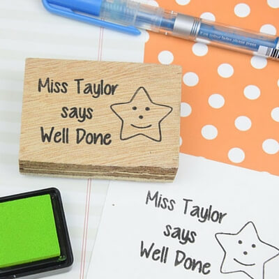 personalized teacher gift ideas rubber stamp