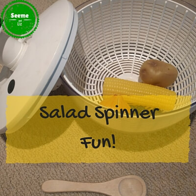 play activities for a 1 year old salad spinner