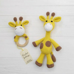 Toys for baby registry - giraffe rattle set