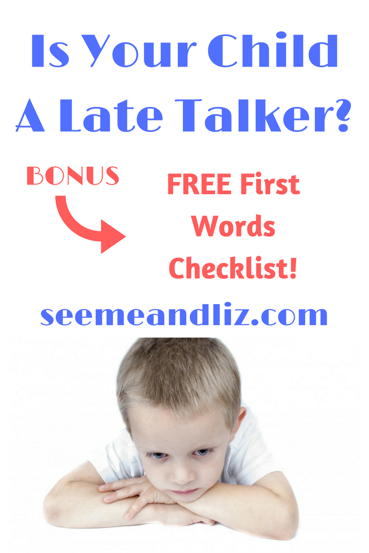 There are many late talker activities, but first find out what this term really means for toddlers. Plus, get a FREE first words checklist! | #speechtherapy | #languagelearning