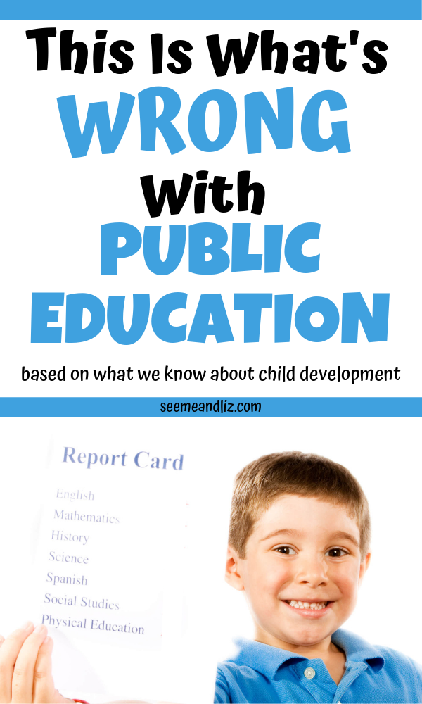 child holding report card with text overlay pinterest image