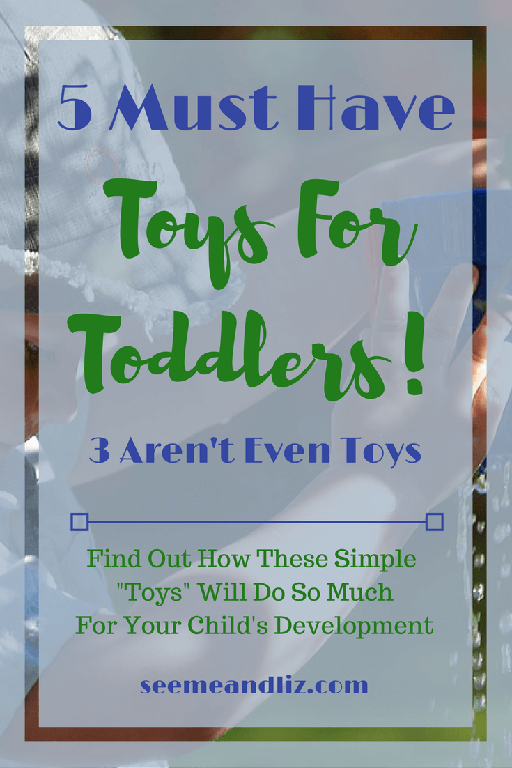 You most likely have 3 of these 5 must have toddler toys! They will all help with your child's speech-language development, imagination, problem solving, etc. Click to learn more!