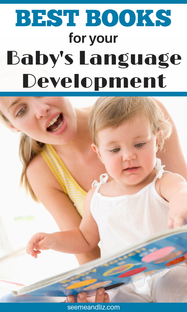 Mother reading to baby with text overlay